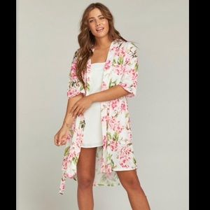 Show Me Your Mumu Brie Floral Tie Robe OS